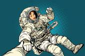 follow me woman astronaut