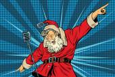 Santa Claus superstar singer on stage