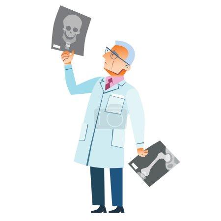 orthopedic doctor x-ray fracture skull medicine