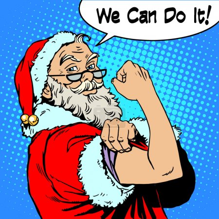 Santa Claus we can do it power protest Christmas New year