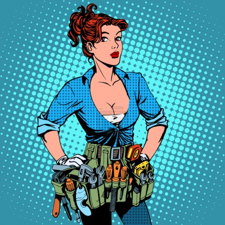 woman working repairman electrician