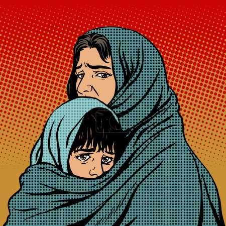 Refugee mother and child migration poverty