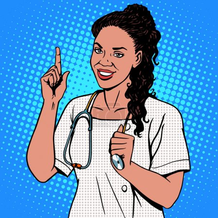 Female doctor of African