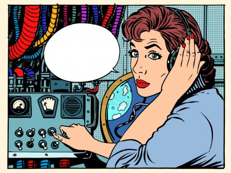 Girl radio space communications with
