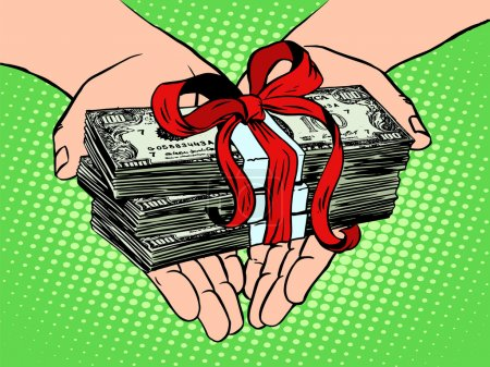 Money as a gift. Financial income