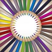 Realistické barevné tužky sada