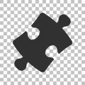 Puzzle piece sign Dark gray icon on transparent background