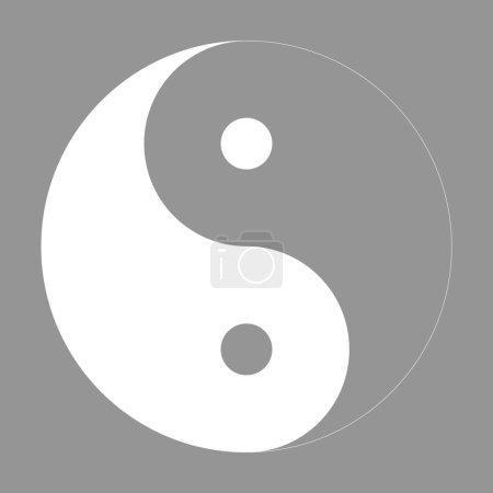 Illustration pour Ying yang symbole d'harmonie et d'équilibre vecteur - image libre de droit