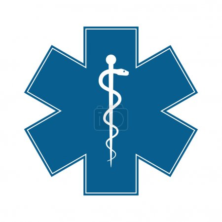 Illustration for Medical symbol of the Emergency - Star of Life - icon isolated on white background. Vector - Royalty Free Image