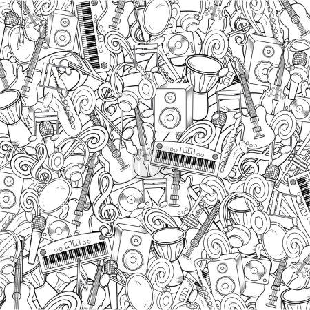 Illustration pour Fond de musique vectorielle - image libre de droit
