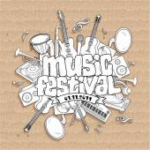 Music festival Vector music background