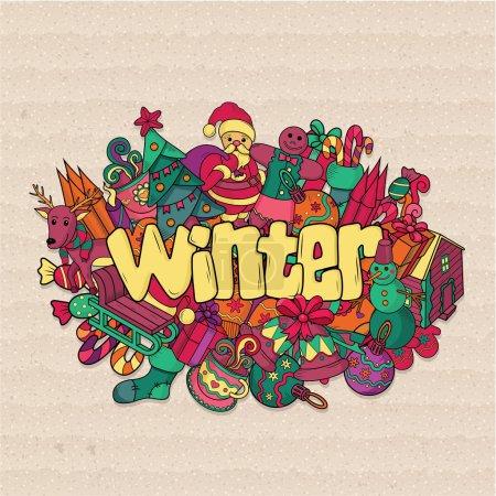 Illustration for Winter background. Vector illustration - Royalty Free Image