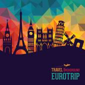 Travel and tourism background Europe