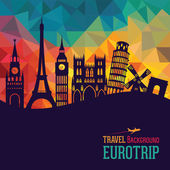 Cestování a cestovní ruch pozadí. Evropa