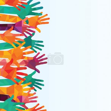 Illustration for Colorful up hands background - Royalty Free Image