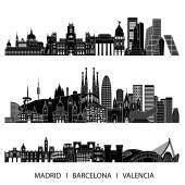 Spanyolország silhouette készlet