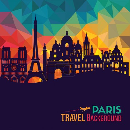 Paris tourism background