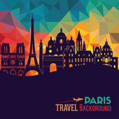 Paris tourism background  Vector illustration