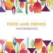 Pattern background. Food and drinks...