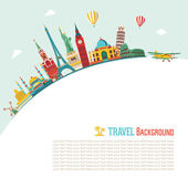 Abstract Travel and tourism background