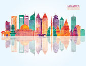 Jakarta detailed skyline
