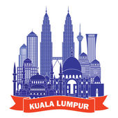 Kuala Lumpur detailed silhouette