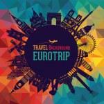Europe skyline silhouette. Vector illustration...