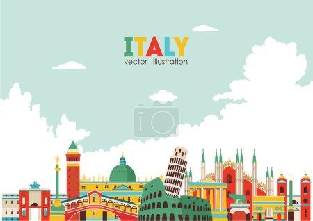 Italy city skyline .