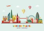 London detailed Skyline Vector illustration