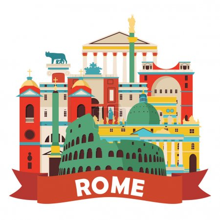 Rome skyline llustration