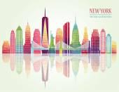 New York skyline Vector illustration