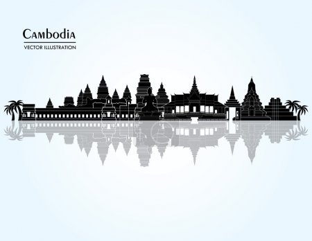 Cambodia detailed skyline.