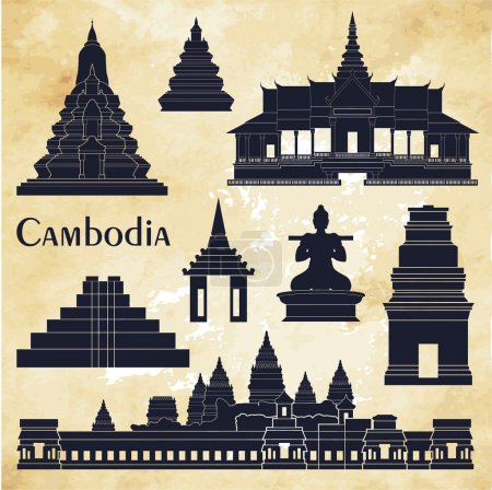 Cambodia detailed monuments