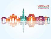 Vietnam detailed skyline