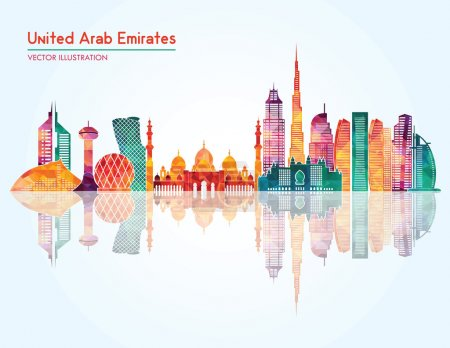 United Arab Emirates skyline silhouette