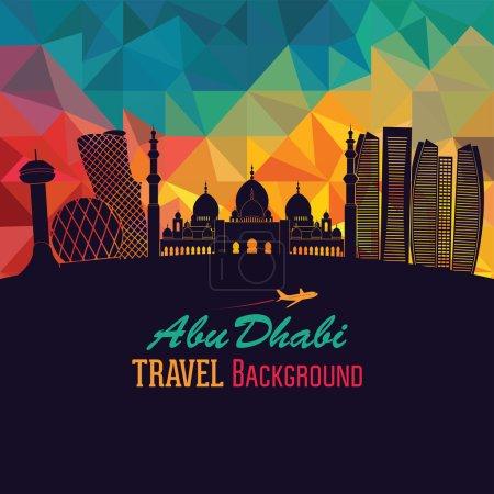 Abu Dhabi detailed skyline