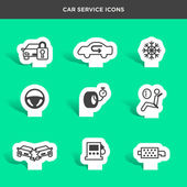 Graphic icons set of car service and assistance vector illustration