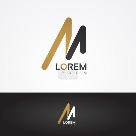 Vector graphic design element - M letter