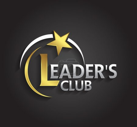 Graphic silver and gold symbol  leaders with star shape