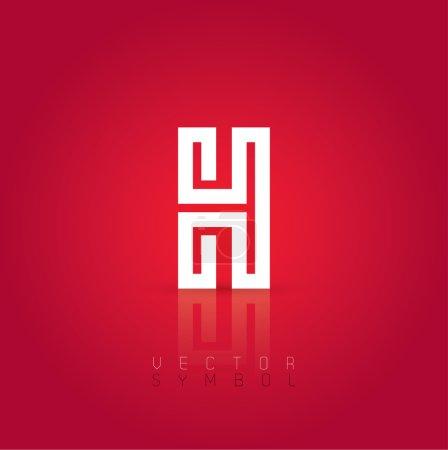 Graphic creative line letter H