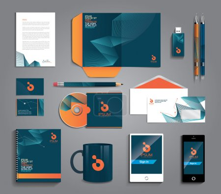 Illustration for Vector grapchic professional identity for your company, with useful elements - Royalty Free Image