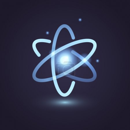 Illustration for Vector graphic scientific atom symbol for your company - Royalty Free Image