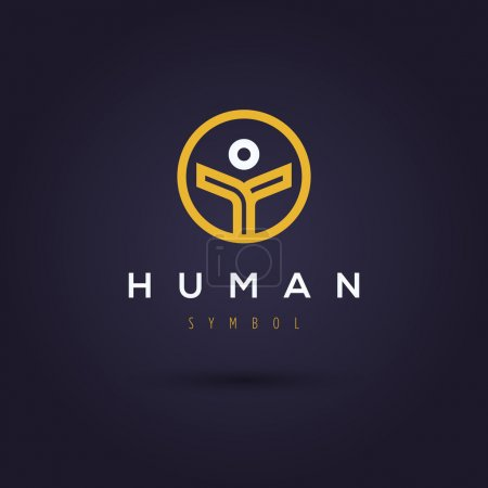 Company logo template with human symbol