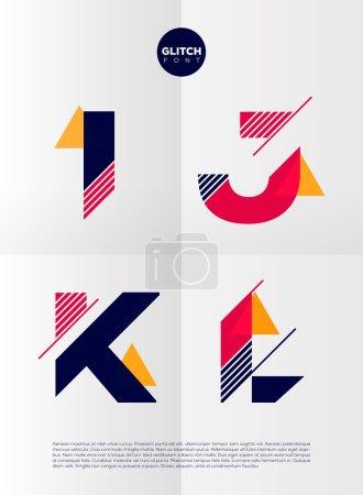 Graphic alphabet letters set