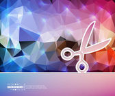 Creative vector scissor. Art illustration template background. For presentation, layout, brochure, logo, page, print, banner, poster, cover, booklet, business infographic, wallpaper, sign, flyer.