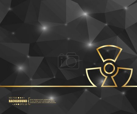 Creative vector radioactively. Art illustration template background. For presentation, layout, brochure, logo, page, print, banner, poster, cover, booklet, business infographic, wallpaper, sign, flyer