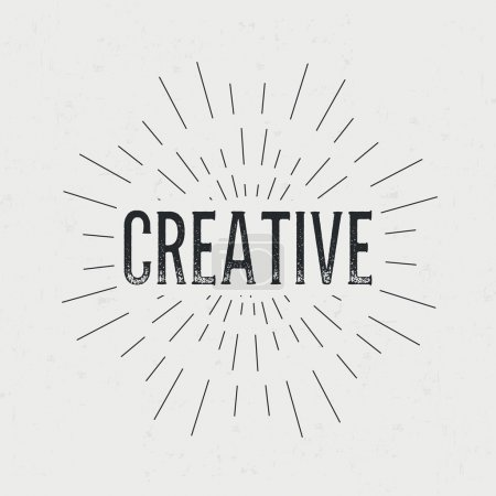 Abstract Creative concept design layout with text. For web and mobile icon isolated on background, art template, retro elements, logo, identity, labels, badge, ink, tag, card.