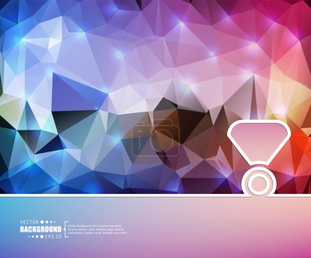 Abstract creative concept vector background. For web and mobile applications, illustration template design, business infographic, brochure, banner, presentation, poster, cover, booklet, document
