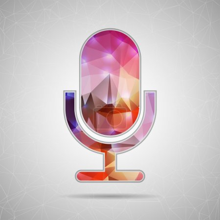 Icon of microphone for Web and Mobile Applications