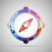 Abstract Creative concept vector icon of compass for Web and Mobile Applications isolated on background Vector illustration template design Business infographic and social media origami icons